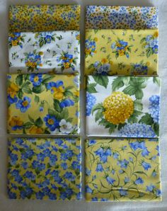 Cotton Fabric, Quilt Fabric, Home Decor, Fat Quarter Bundle of 8, Summer Breeze III by Moda, Fast Shipping https://www.etsy.com/shop/suesfabricnsupplies
