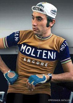 Eddy Merckx, le plus grand cycliste de tous les temps.
