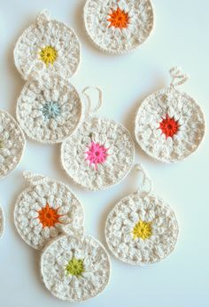 Snowflower crochet ornaments from Purl Bee