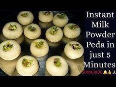 Indian Dessert Recipes, Indian Sweets, Milk Recipes, Sweet Recipes, Milk Powder Recipe, Peda Recipe, Complete Recipe, Powdered Milk, Easy Desserts