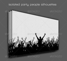 Party People Silhouettes — Vector EPS #design #punk • Available here → https://graphicriver.net/item/party-people-silhouettes/2559365?ref=pxcr