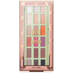 Create a range of subtle or striking eye makeup looks with the PIXI Lid Lovelies Eye Shadow Palette, a carefully curated eyeshadow palette combining 18 neutral and vibrant eyeshadows, from subtle nudes to fiery orange, shocking pink and smokey charcoal