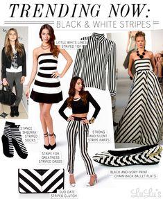 Trend Alert: Black and White Stripes
