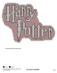 Harry Potter Harry Potter Pc, Harry Potter Crochet, Harry Potter Decor, Plastic Canvas Ornaments, Plastic Canvas Crafts, Plastic Canvas Patterns, Cross Stitching, Cross Stitch Embroidery, Harry Porter