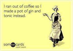 Happy Monday  #gintonic #gin #coffee #needsleep #ginsonline #gt #ginandtonic #ginspire #ginspiration #oops #ginforthewin #gins #ginsonline #gin