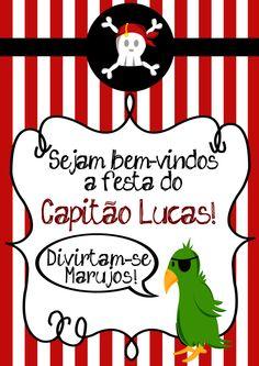 Festa Infantil – Pirata | bemtevi Convites e Lembrancinhas
