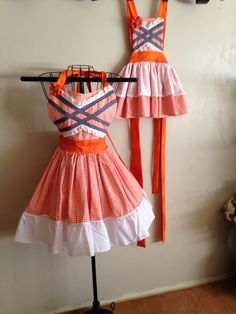 lil' pumpkin mommy and me apron set on Etsy, $65.00