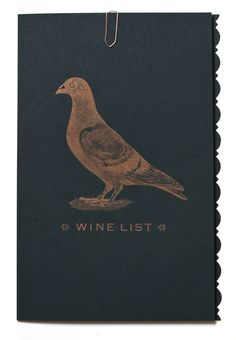 A stylish way to present your wine list