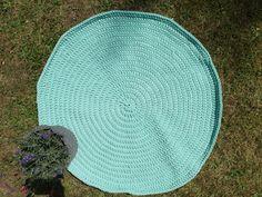 Dywanik ze sznurka miętowy- owal 100 cm - SPLOT - Dodatki do domu