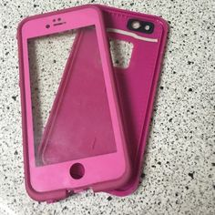 Phone cover Pink life proof water prove bought it for 80 dollars celling it for much cheaper price. Very reliable LifeProof Other