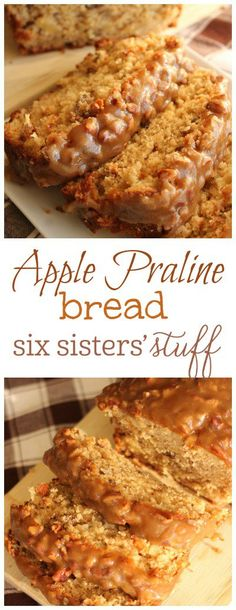10 Most Misleading Foods That We Imagined Were Being Nutritious! Apple Praline Bread From Six Sisters' Stuff A Delicious Moist Apple Bread With A Praline Topping That Is Out Of This World Oreo Dessert, Dessert Bread, Quick Bread Recipes, Apple Recipes, Apple Butter Bread Recipe, Apple Praline Bread, Köstliche Desserts, Dessert Recipes, Bread Appetizers