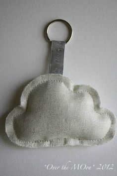 Cloudy Key Ring