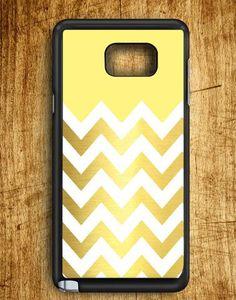 Yellow White Chevron Gold Samsung Galaxy Note Edge Case