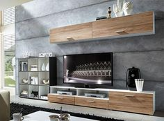 Linea by Germania Contemporary Wall Storage System in Various Colours