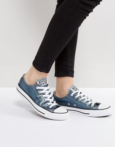 f8918ae83bb804 Converse Chuck Taylor All Star Metallic Canvas Trainers In Blue
