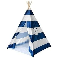 Sorbus Teepee Tent for Kids Play, Includes Portable Carry Bag for Travel or Storage, Green