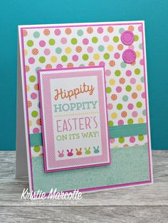 Easter is right around the corner, so I decided to get started on Easter cards. I used an older Doodlebug Design paper pad called Easte. Mother Card, Mothers Day Cards, Scrapbook Paper Crafts, Scrapbook Cards, Holiday Cards, Christmas Cards, Birthday Cards, Birthday Images, Birthday Quotes