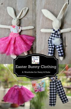 This is the Easter bunny clothing free pattern and tutorial for those of you that are making the bunny and the egg. Super easy to make with fabric scraps.