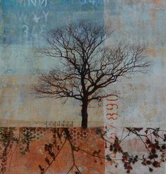 In Solitude - Mixed Media Collage