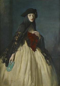 The Green Masque, a portrait of the artist's wife, Rhoda Oswald Birley, 1922 Private Collection
