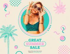 Major Tips For Boosting Your Website Design Email Design, Ad Design, Layout Design, Summer Banner, Summer Poster, Plakat Design, Promotional Design, Summer Design, Book Layout
