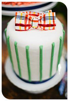 Adorable bow tie cake!
