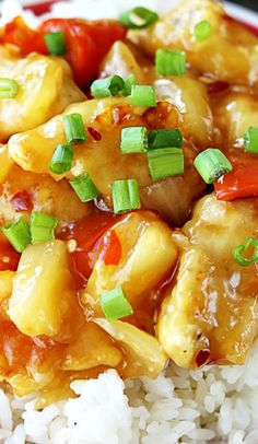 Sweet Fire Chicken Recipe ~ Sweet and tangy sauce with a little kick over battered and pan-fried chicken pieces! An amazing take-out meal you can fix in a hurry at home!