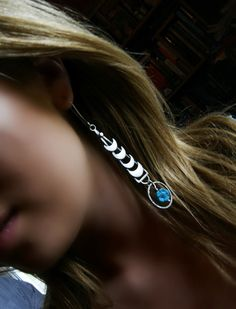Turquoise Sterling Silver Crescent Earrings