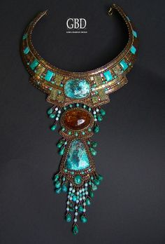 pinterest jewelry bead embroidery | bead embroidery necklace