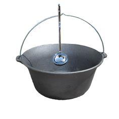 Liatinový kotlík 7,2 L + antikórová naberačka Cauldron, Wok, Camping, Campsite, Campers, Tent Camping, Rv Camping