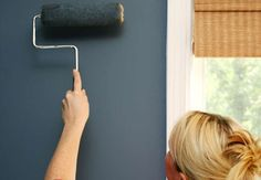 To reuse your paint roller, simply trim away the dried paint with household scissors
