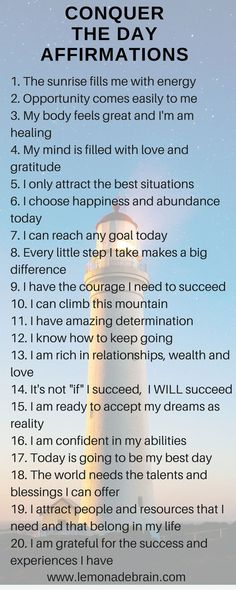 Start The Day Off With Affirmations - Lemonade Brain Positive Affirmations Quotes, Self Love Affirmations, Morning Affirmations, Affirmation Quotes, Positive Quotes, Mantra, Life Quotes Love, Self Care Activities, Self Improvement Tips
