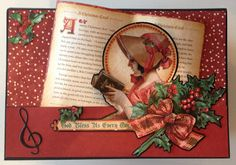 Graphic 45 A Christmas Carol Mini Album in a Christmas house and Page Base Tutorial by Anne Rostad