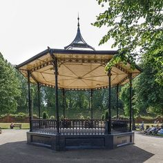 Colchester's Victorian bandstand hosts free concerts on Sundays in Castle Park throughout the summer. Colchester Castle, Free Concerts, Stage Set, Gazebo, Victorian, Outdoor Structures, Park, Hot, Summer