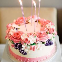 Cute & #Beautiful Birthday Cakes from Pinterest