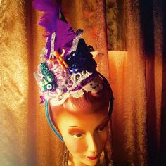 Krewe du vieux......we're ready......spectacular top hatsheaddressesfascinators Carnival hats & more....... #moonshinenettie #mardigras#carnival#tophats #fascinator #headdress #costume#wigs#mannequin #parade#frenchquarter#nola#neworleans#followyornola#nolalife#nolastyle#nolalove #spectacular #carnivalseason by moonshinenettie