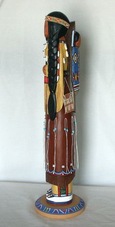"""Cheyenne Mother 18"""" wooden no face doll from MyPeopleIndiandolls.com  $750"""
