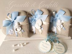 """143 curtidas, 4 comentários - Gessetti & Confetti (@gessettieconfetti) no Instagram: """"💙 Battesimo Paride 💙"""" Wedding Favors, Party Favors, Baby Shawer, Burlap Crafts, Baby Shower Themes, Christening, Confetti, Baby Gifts, Creations"""