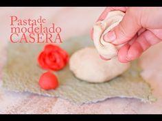(547) Pasta para modelar manualidades casera - Porcelana fria receta - YouTube