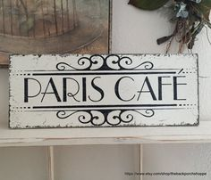 Paris Cafe FRENCH SIGNS Kitchen Sign. French By Thebackporchshoppe