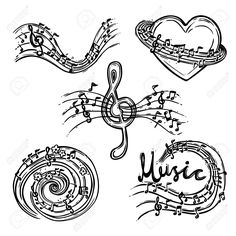 Buy Music Abstract Set by macrovector on GraphicRiver. Music abstract decorative sketch icons set with treble clef and notes isolated vector illustration. Editable EPS and . Sketch Icon, Sketches, Music Letters, Buy Music, Treble Clef, Vector Design, Icon Set, Royalty Free Photos, Swirls