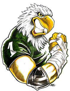A illustration done of the Eagles mascot Swoope! Go Eagles, Fly Eagles Fly, Eagles Team, Eagle Mascot, Eagle Logo, Philadelphia Eagles Football, Philadelphia Sports, Eagle Art, Creation Art