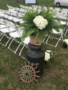 Rustic decor at barbecue wedding calls to mind the bride's family roots. Barbecue Wedding, Family Roots, Rustic Decor, Bride, Barbeque Wedding, Wedding Bride, Bridal, The Bride, Brides