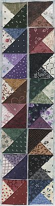 fabric patterns, tabl runner, quilt borders, triangle quilts, half square triangles, quilt border ideas, boston block, quilting tips, table runners
