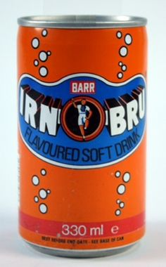 Barrs Irn Bru. This is the classic Irn Bru logo that I'll always remember.