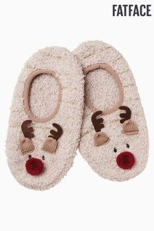 Buy FatFace Natural Reindeer Cosy Footsies from the Next UK online shop Fluffy Socks, Bed Socks, Fat Face, Ankle Socks, Next Uk, Uk Online, Reindeer, Cosy, Ladies Socks