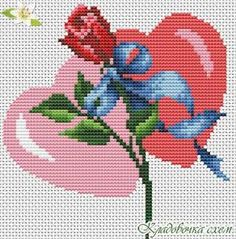 Easy Cross Stitch Patterns, Simple Cross Stitch, Cross Stitch Rose, Cross Stitch Embroidery, Plastic Canvas Crafts, Plastic Canvas Patterns, Hama Beads Disney, Hand Embroidery Tutorial, Hobbies And Crafts