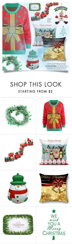 """OUTFIT"" by golden-bird-love ❤ liked on Polyvore featuring interior, interiors, interior design, home, home decor, interior decorating, Christmas, contest and gamiss"