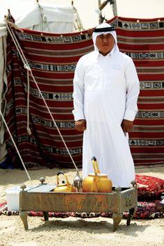 Tea time at a beduin camp in the desert outside of Doha, Qata Arabic Tea, Arabic Coffee, Abu Dhabi, Arabian Tent, Cocoa Tea, Tea Culture, Desert Oasis, Vernacular Architecture, We Are The World
