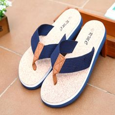 81b2d4b282260e Hot Summer Men Canvas Flip Flops Fashion Classic Retro Shoes Beach Men s  Slippers Outdoor Casual Men